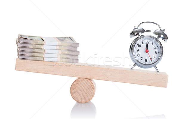 Dollaro bilanciamento altalena isolato bianco business Foto d'archivio © AndreyPopov