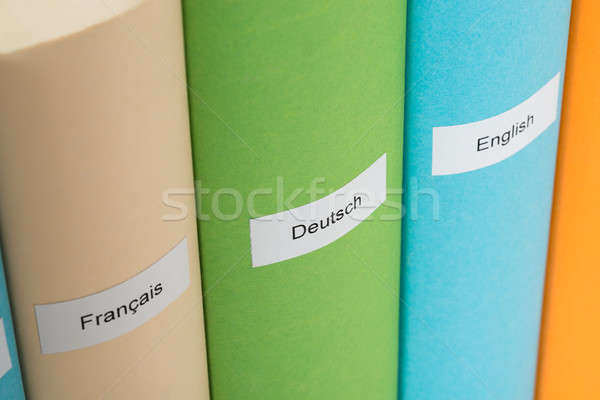 Close-up Of Different Language Books Stock photo © AndreyPopov