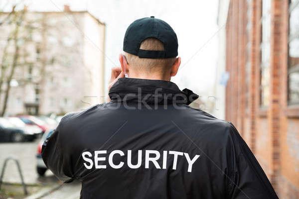 Guarda de segurança jaqueta masculino preto Foto stock © AndreyPopov