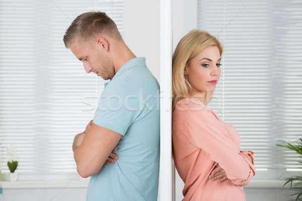 несчастный пару Постоянный назад домой вид сбоку Сток-фото © AndreyPopov