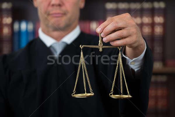 裁判官 法 スケール 法廷 男性 ストックフォト © AndreyPopov