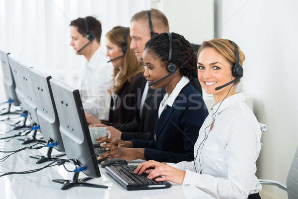 Call Center Operators In Office Stock photo © AndreyPopov