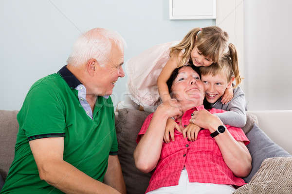 Grandparents And Grandchildren Playing Together Stock photo © AndreyPopov