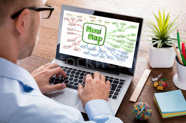Businessman Working On Mind Map Concept Stock photo © AndreyPopov