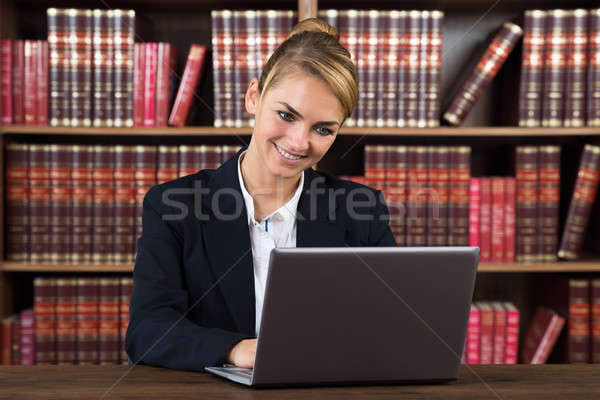 Female Accountant Using Laptop In A Courtroom Stock photo © AndreyPopov