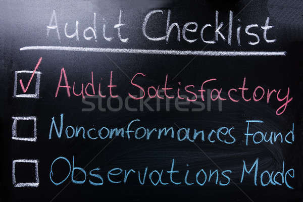Audit Checklist On Blackboard Stock photo © AndreyPopov