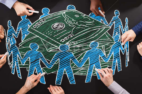 People Drawing Crowdfunding Concept Stock photo © AndreyPopov