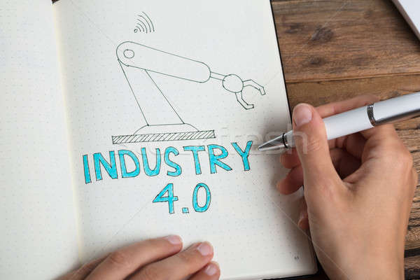 Human Hand Drawing Industry 4.0 Concept Stock photo © AndreyPopov