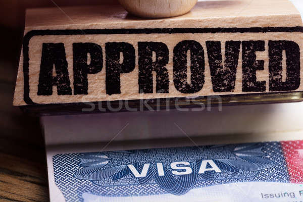 Approved Stamp On Visa Stock photo © AndreyPopov