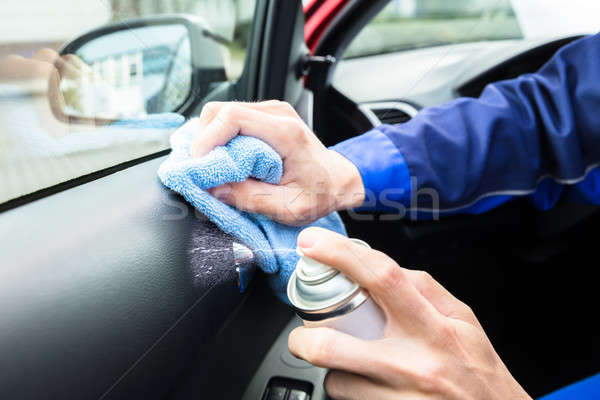 Serviceman Cleaning Car Interior Stock photo © AndreyPopov