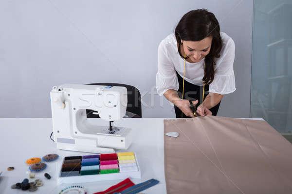 Femminile moda designer panno forbici Foto d'archivio © AndreyPopov