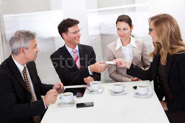 Tarjetas café informal reunión Servicio Foto stock © AndreyPopov