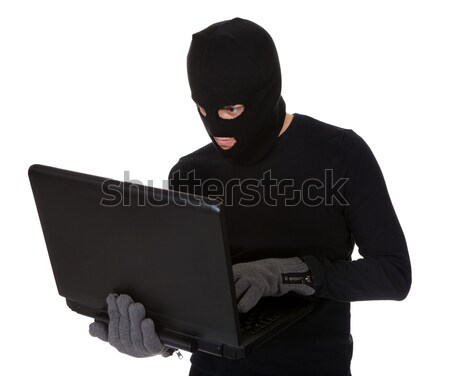 Burglar on Computer Stock photo © AndreyPopov