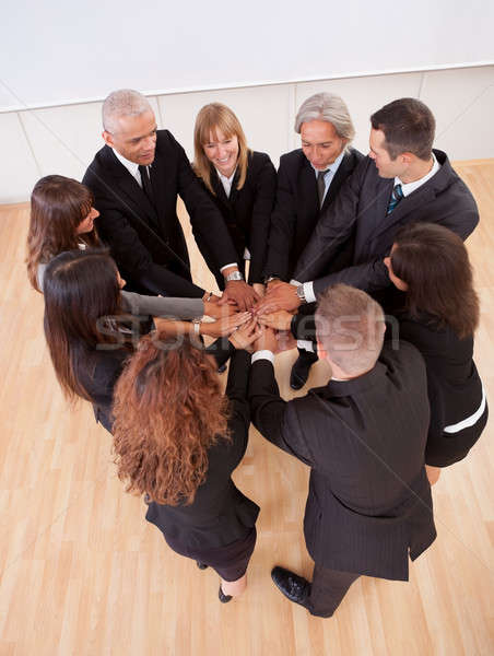 Business team pledging their support Stock photo © AndreyPopov