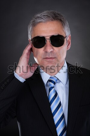 Portrait Of Male Detective With Handgun Stock photo © AndreyPopov