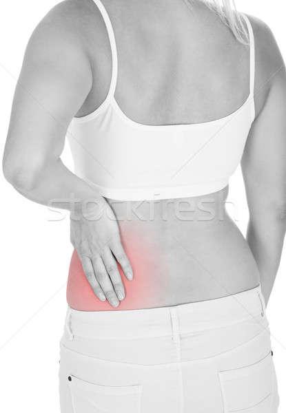 Woman having kidney pain Stock photo © AndreyPopov