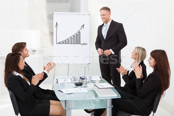 Stock photo: Businesspeople Clapping For Colleague After Presentation