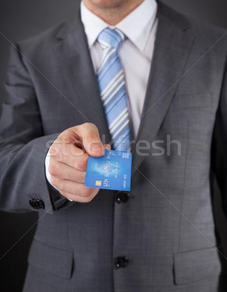 Om de afaceri card de credit bani om finanţa Imagine de stoc © AndreyPopov