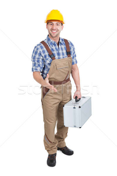 Manual Worker With Toolbox Offering Handshake Stock photo © AndreyPopov