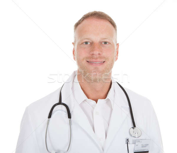 Confident Mid Adult Male Doctor With Stethoscope Stock photo © AndreyPopov