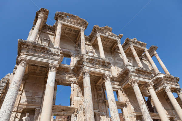 Roman Library Of Celsus Stock photo © AndreyPopov