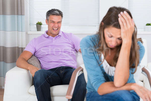 Mature Man Shouting To The Woman Stock photo © AndreyPopov