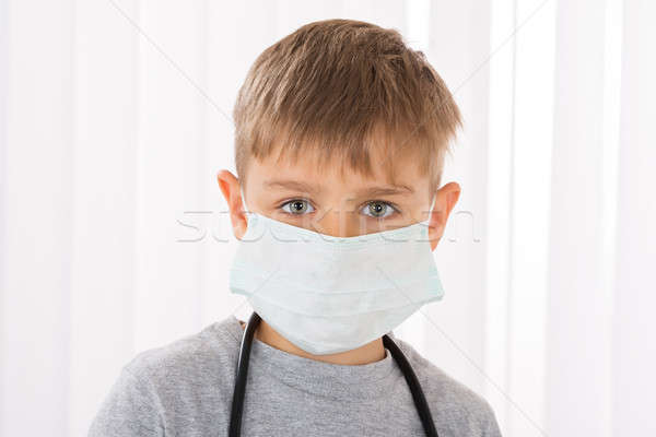 Boy Doctor With Surgical Mask Stock photo © AndreyPopov