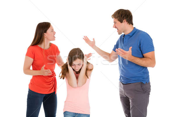 Parent Quarreling On White Background Stock photo © AndreyPopov