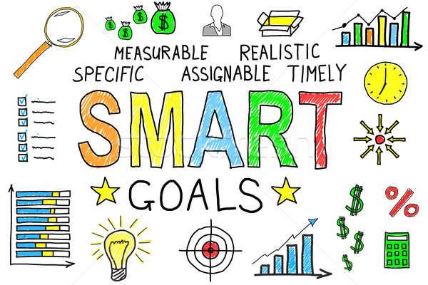 Illustrative Diagram Of Smart Goals Concept Stock photo © AndreyPopov