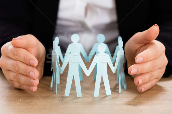 Teamwork Concept On Wooden Desk Stock photo © AndreyPopov