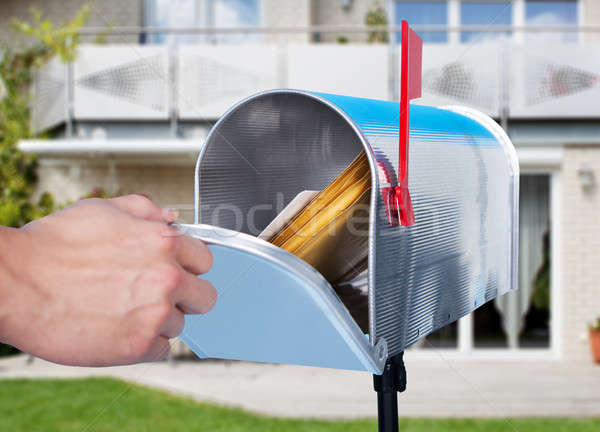Person Hand Checking Mailbox Stock photo © AndreyPopov