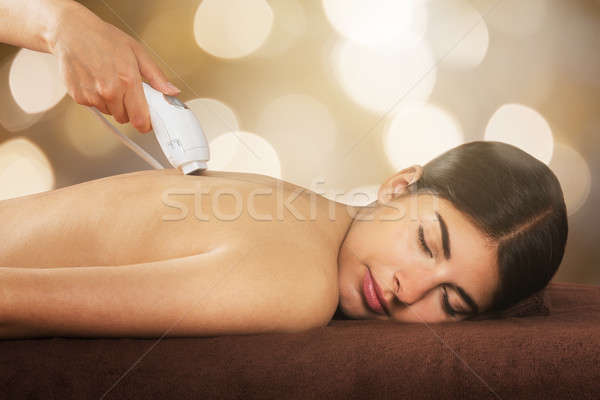 Woman Receiving Laser Treatment Stock photo © AndreyPopov