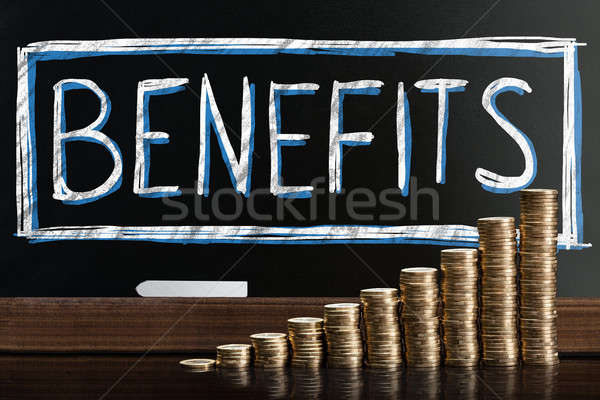 Social Security Benefits Drawn On Chalkboard Stock photo © AndreyPopov