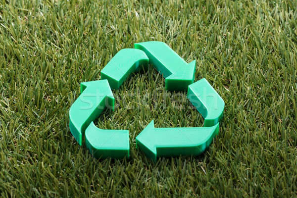 Stock photo: Close-up Of Recycle Symbol