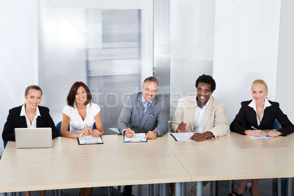 Panel Of Corporate Personnel Officers Stock photo © AndreyPopov