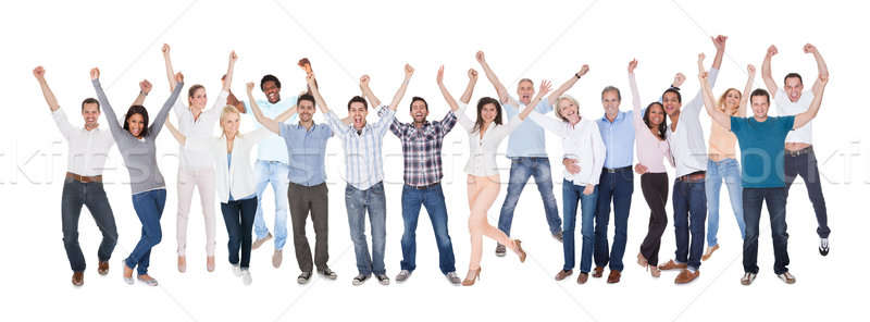 Happy Group Of People Dressed In Casual Stock photo © AndreyPopov