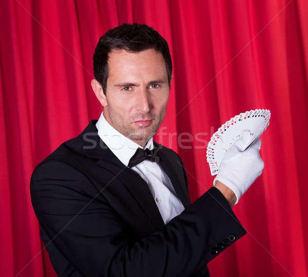 Portrait Of Magician Stock photo © AndreyPopov