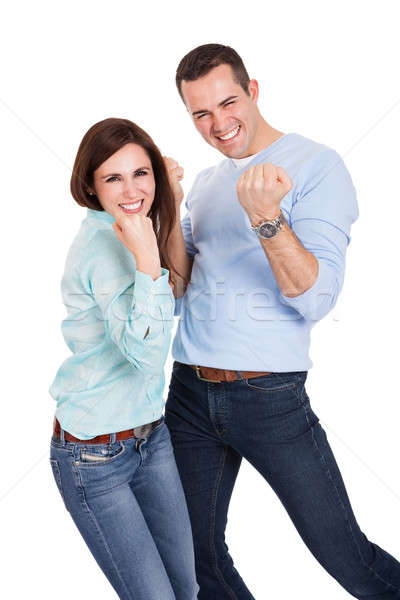 Portrait of beautiful young couple Stock photo © AndreyPopov