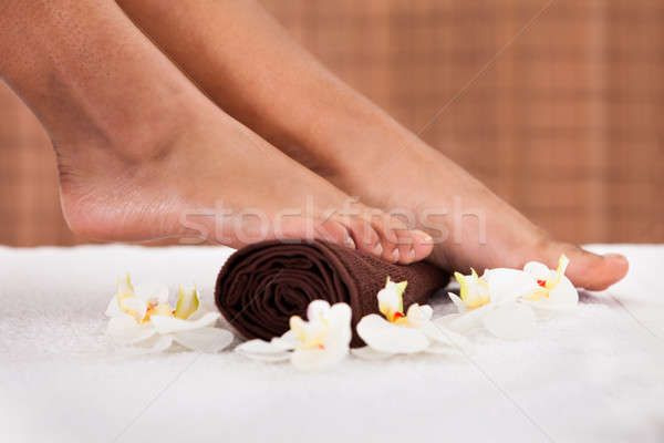 Close-up Of Foot Getting Spa Treatment Stock photo © AndreyPopov