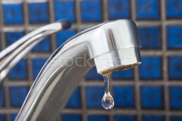 Water Drop Dripping From Tap Stock photo © AndreyPopov
