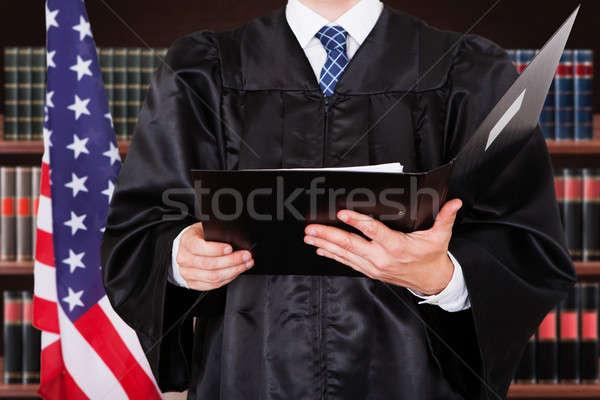 мужчины судья папке Сток-фото © AndreyPopov