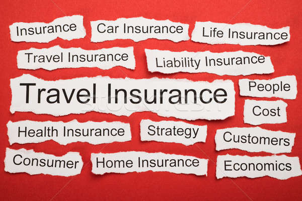 Travel Insurance Text On Piece Of Torn Paper Stock photo © AndreyPopov