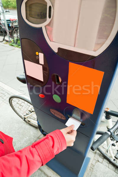 Person Hands Paying For Parking Stock photo © AndreyPopov