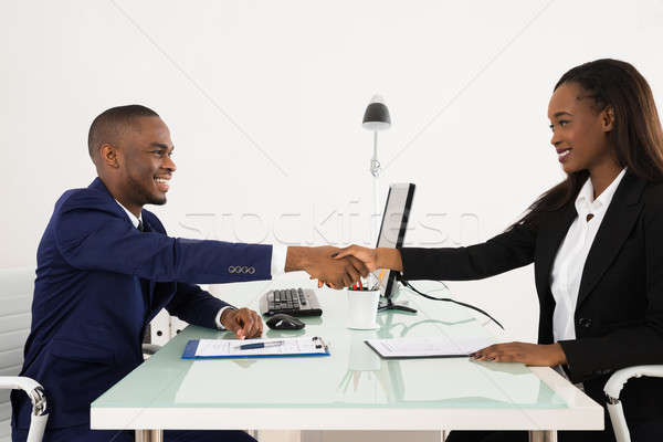 African American Businessman Handshaking With Client Stock photo © AndreyPopov
