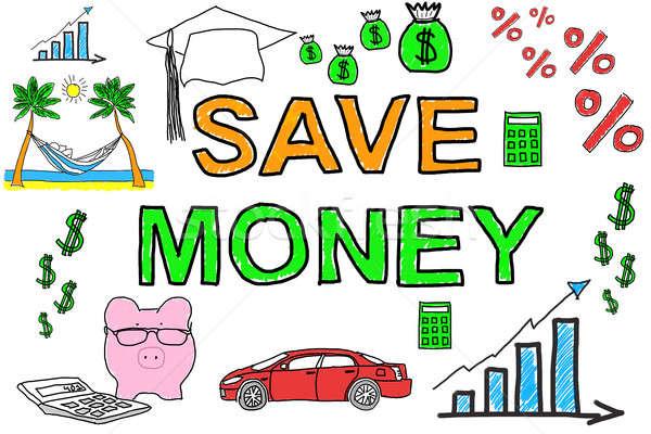 Illustrative Diagram Of Save Money Concept Stock photo © AndreyPopov