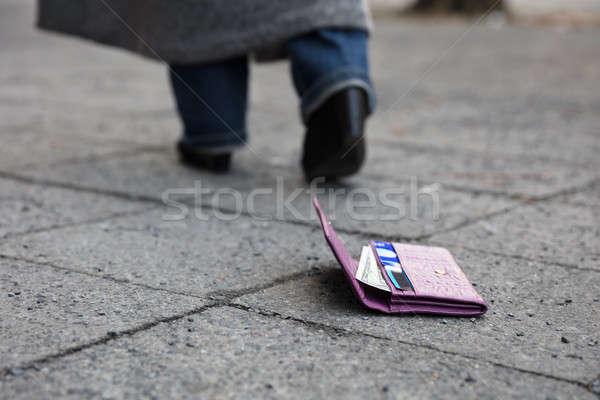 Lost Purse On Street Stock photo © AndreyPopov