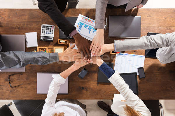 Business Team Joining Hands Together Stock photo © AndreyPopov