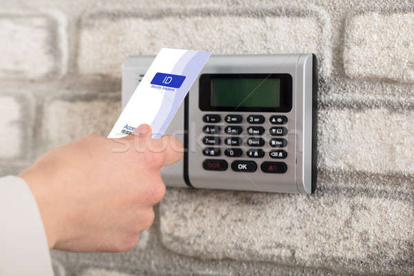 Electronic Key System To Lock And Unlock Door Stock photo © AndreyPopov