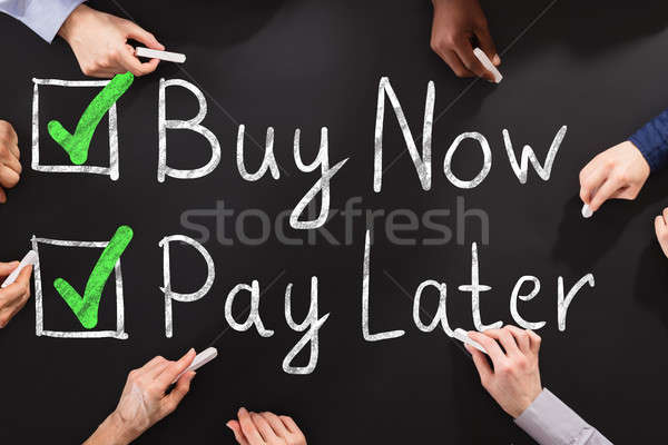 People Drawing Buy Now Pay Later Concept Stock photo © AndreyPopov