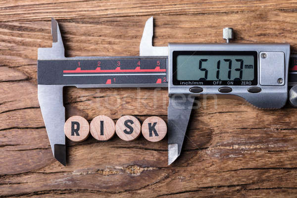 Digital Electronic Vernier Caliper And Blocks With Risk Text Stock photo © AndreyPopov